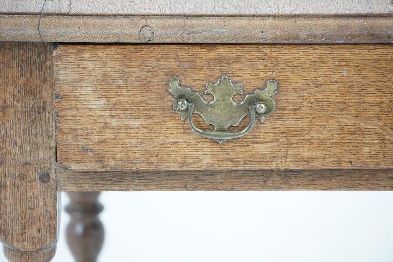 Antique Oak Table, 18th Century Georgian Desk or Hall Table, Scotland, B1683 For Sale 3