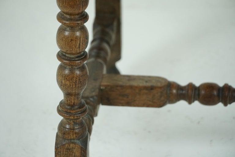 Antique Oak Table, 18th Century Georgian Desk or Hall Table, Scotland, B1683 For Sale 4