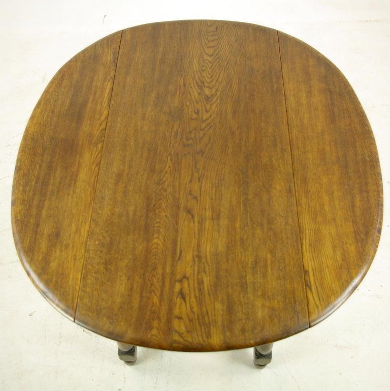 Antique Oak Table Oak Kitchen Table Drop Leaf Table LaidlerCo B1153 REDUCED