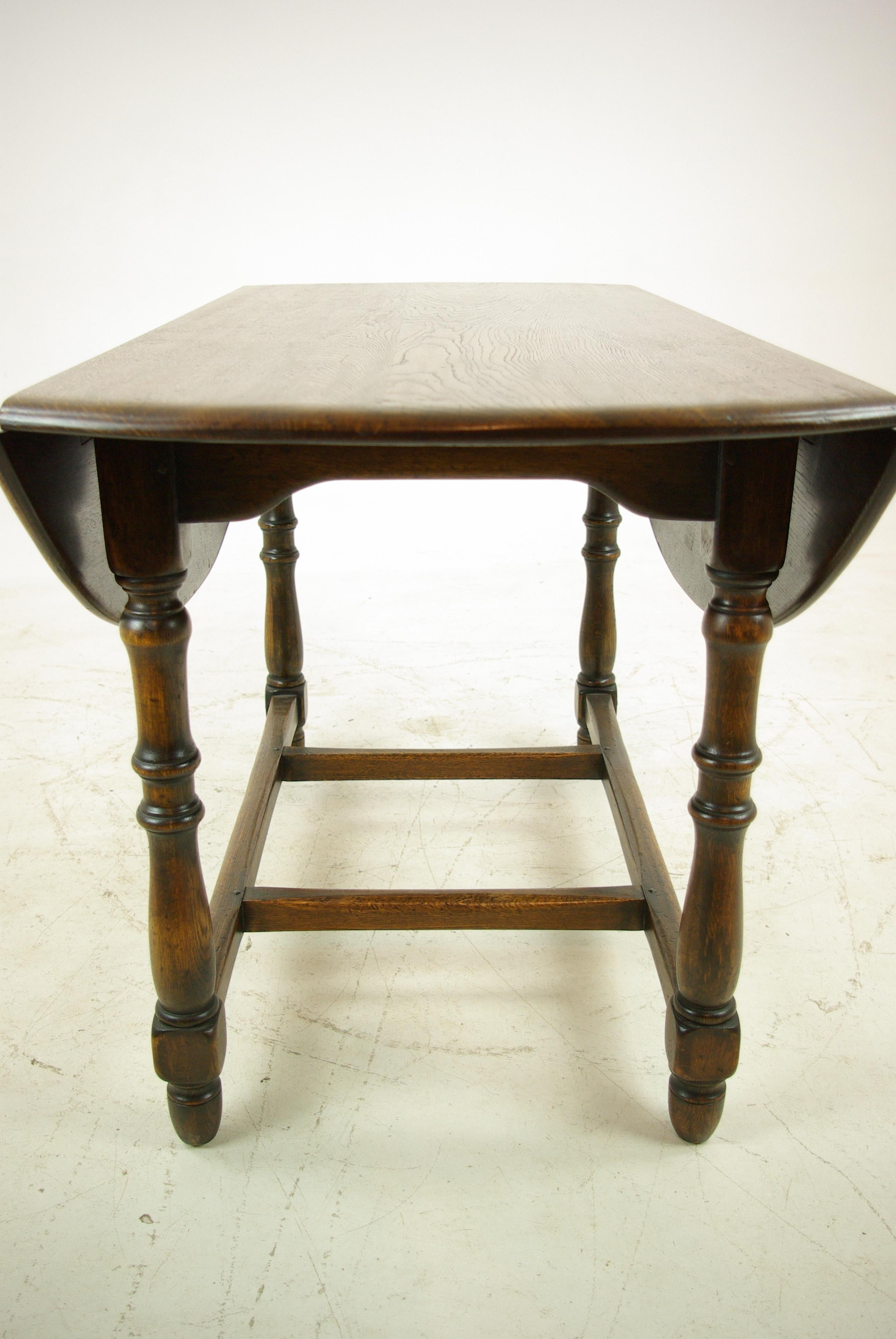 Antique Oak Table, Oak Kitchen Table, Drop Leaf Table, LaidlerCo.,B1153  REDUCED For Sale At 1stdibs