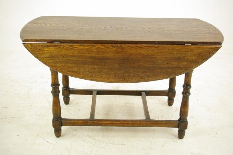 Antique Oak Table, Oak Kitchen Table, Drop Leaf Table, LaidlerCo.,B1153  REDUCED