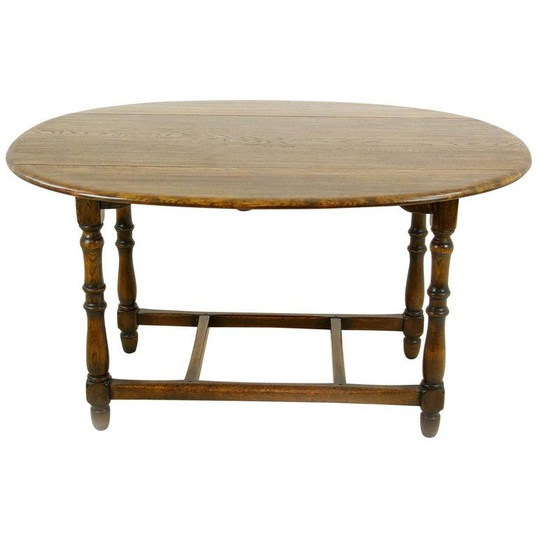 Antique Oak Table, Oak Kitchen Table, Drop Leaf Table, LaidlerCo.,B1153 - Antique Oak Table, Oak Kitchen Table, Drop Leaf Table, LaidlerCo
