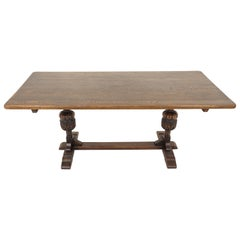 Antique Oak Table, Refectory Farmhouse Dining Table, Scotland 1930, B1813