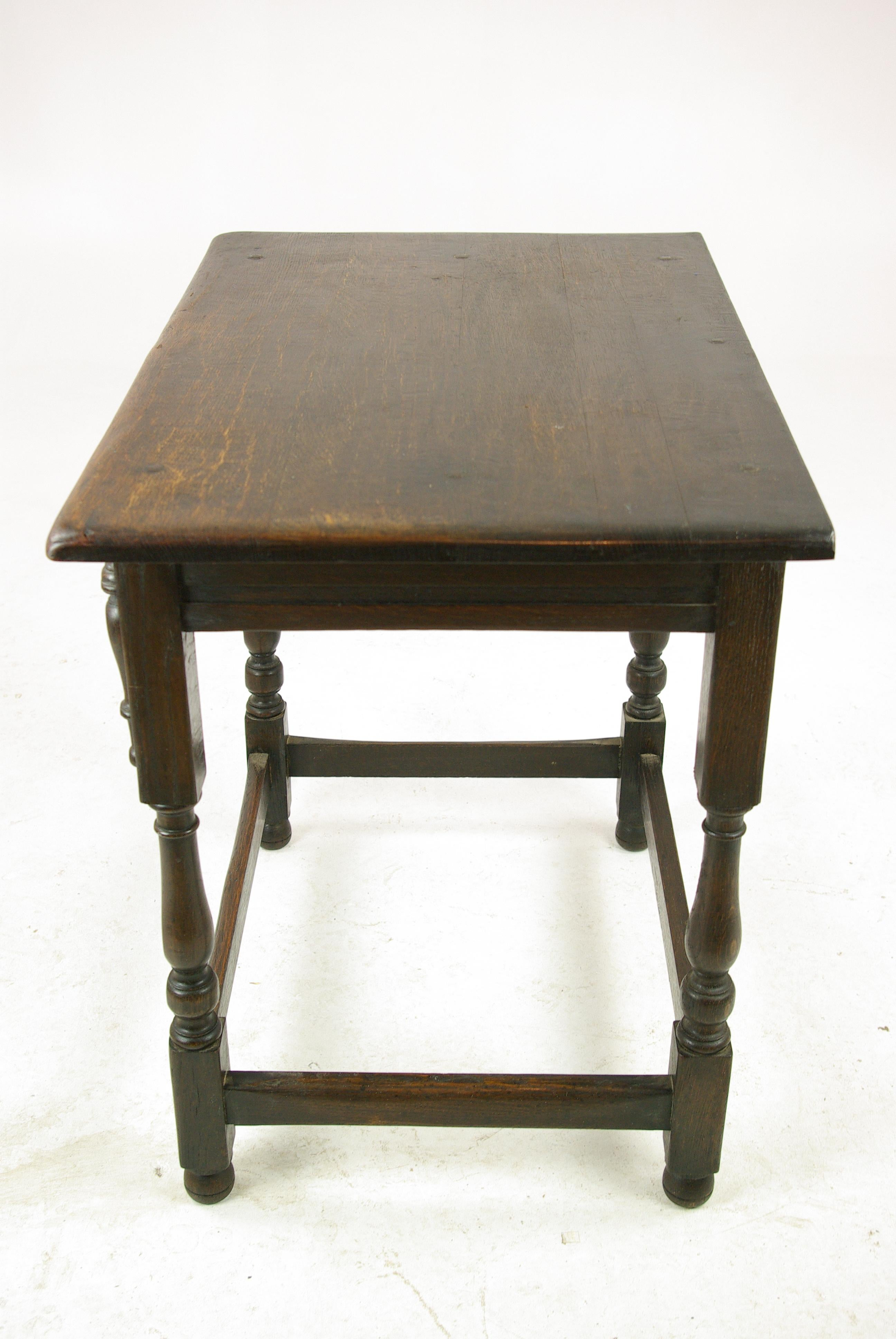 Antique Oak Table, Scottish Hall Table, Antique End Table, Scotland, 1930s  For Sale At 1stdibs