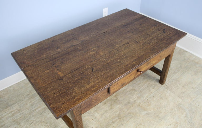Early 19th Century Antique Oak Trestle Based Coffee Table