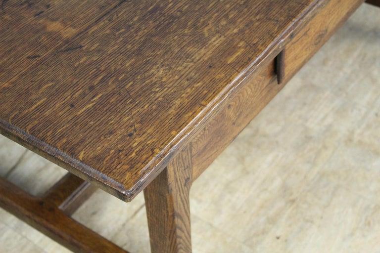 Antique Oak Trestle Based Coffee Table 1