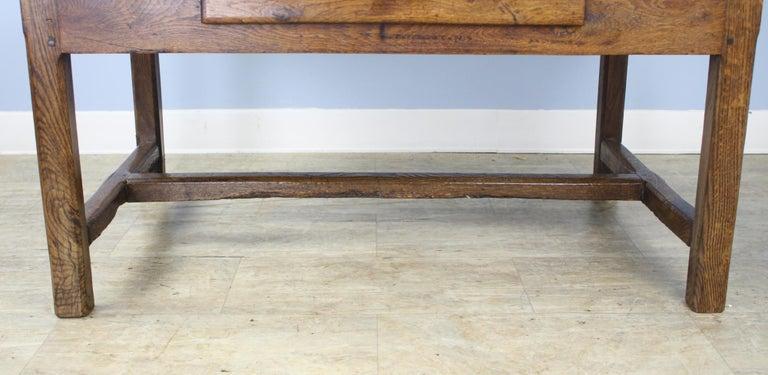 Antique Oak Trestle Based Coffee Table 2