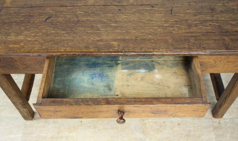 Antique Oak Trestle Based Coffee Table 4