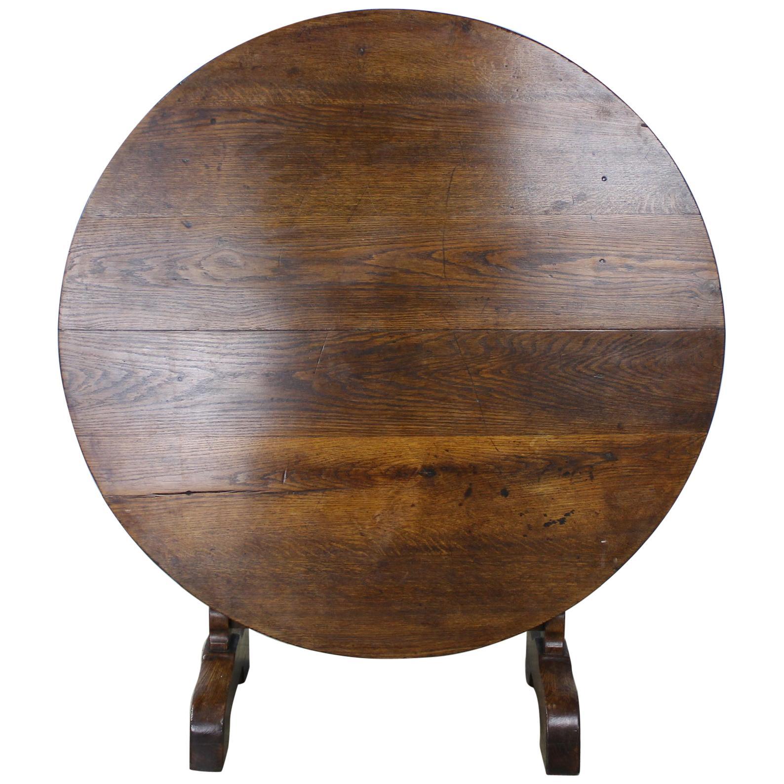 Antique Oak Vendange or Wine Tasting Table