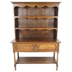 Antique Oak Welsh Dresser, Sideboard, Buffet, Scotland 1910, B1825