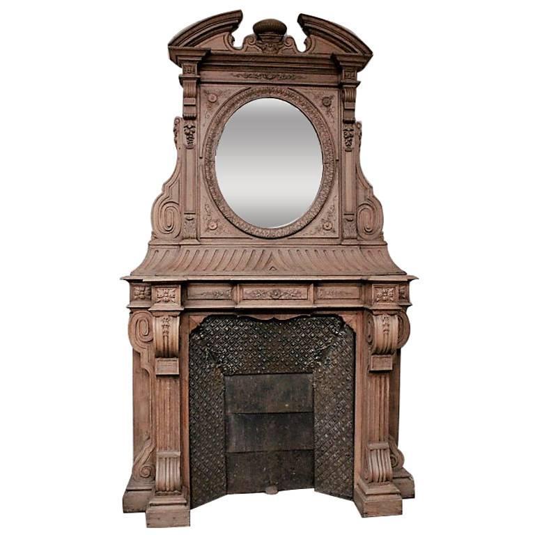 Antique Oakwood Fireplace