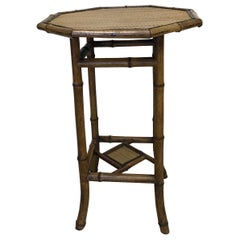 Antique Octagon Bamboo Table