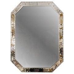 Antique Octagonal Etched Mirror