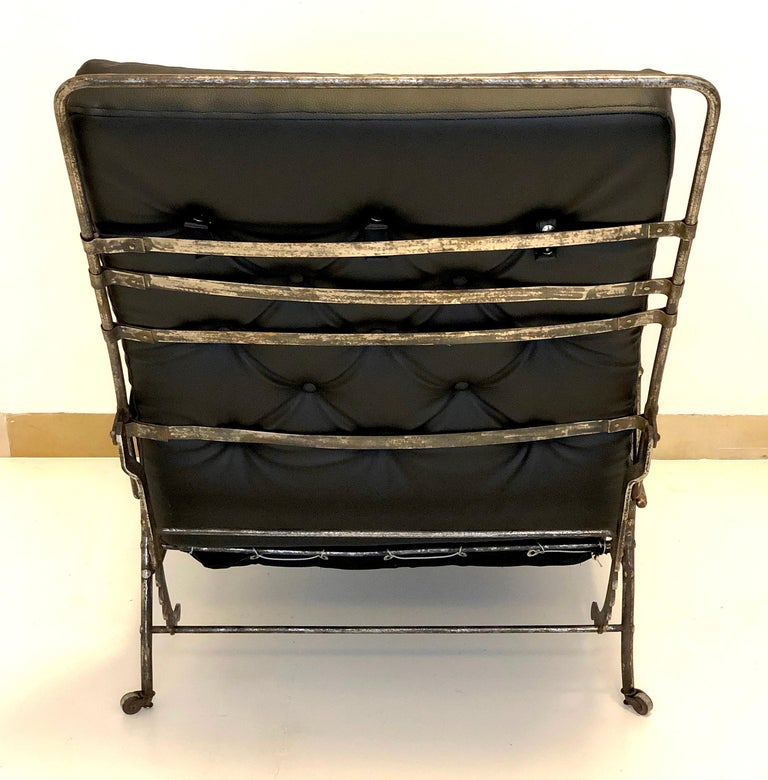 Antique Officer Daybed Armchair, France In Good Condition For Sale In Munich, DE