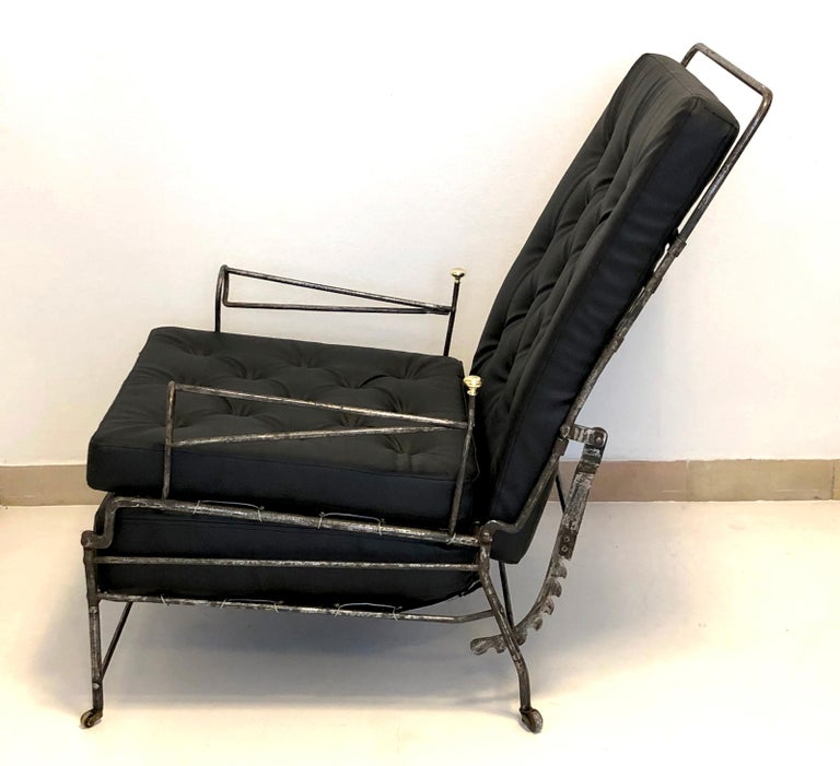 Early 19th Century Antique Officer Daybed Armchair, France For Sale
