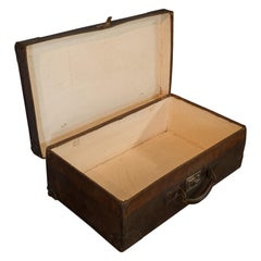 Antique Officer's Case, English, Leather, Travel, Suitcase, Luggage, circa 1920