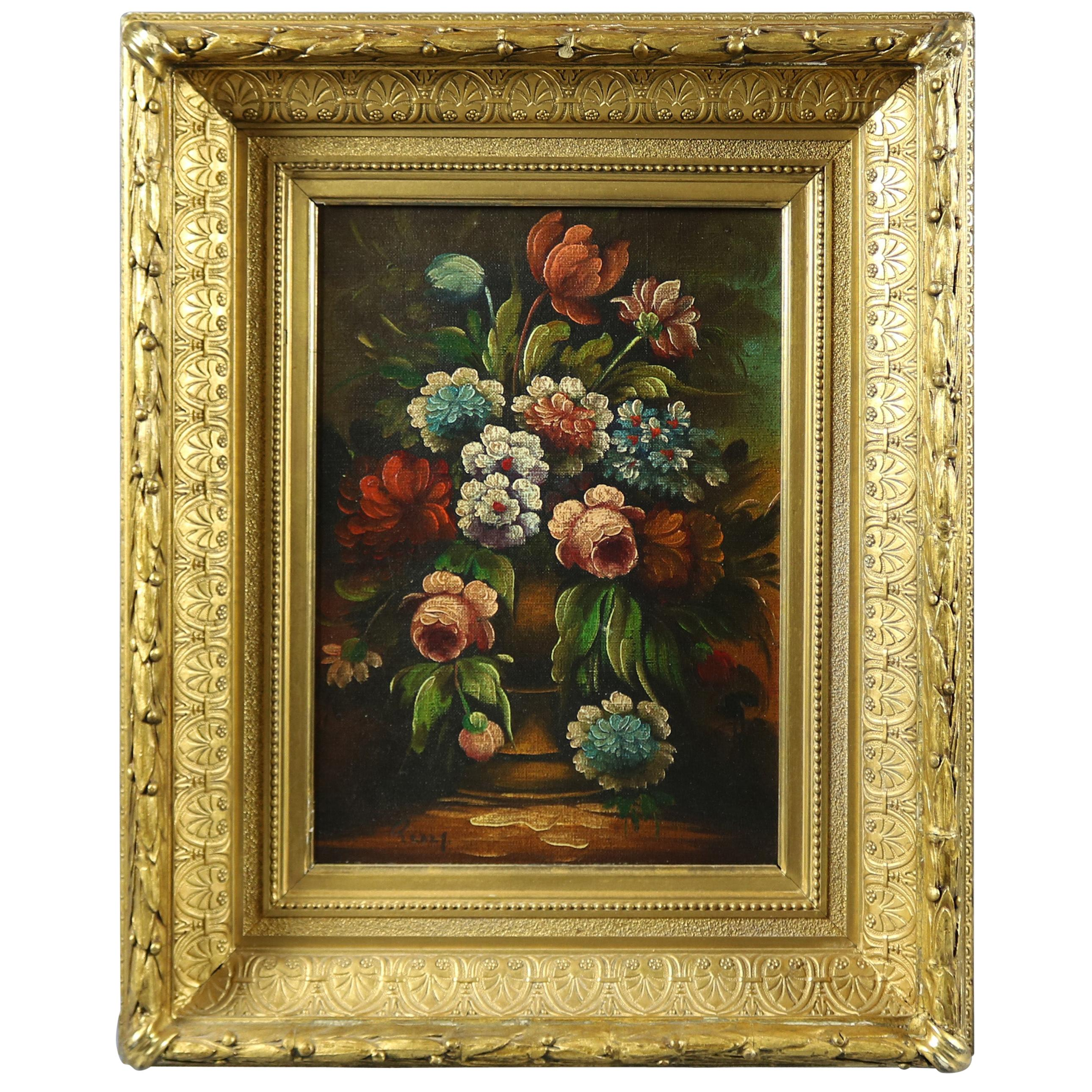 a83dd0b9c Floral Oil Paintings - 171 For Sale on 1stdibs