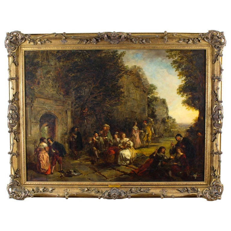 Antique Oil on Canvas Painting by Daniel Pasmore 1873 19thC For Sale