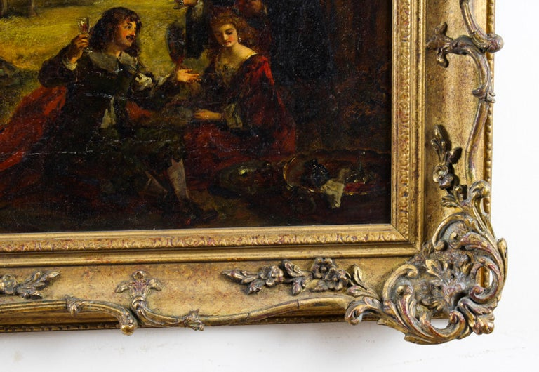 Antique Oil on Canvas Painting by Daniel Pasmore 1873 19thC For Sale 6