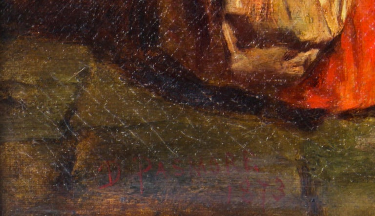 Antique Oil on Canvas Painting by Daniel Pasmore 1873 19thC For Sale 9
