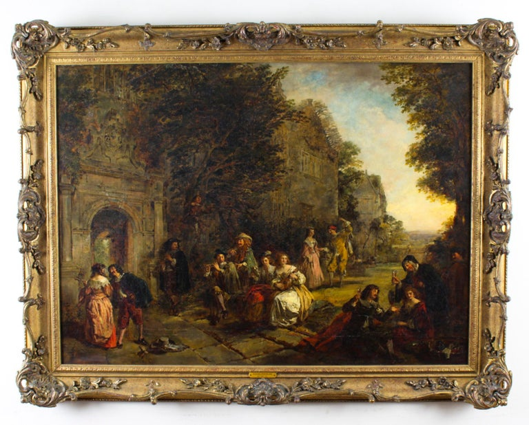 Antique Oil on Canvas Painting by Daniel Pasmore 1873 19thC For Sale 12