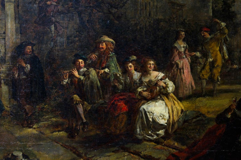 Antique Oil on Canvas Painting by Daniel Pasmore 1873 19thC For Sale 1
