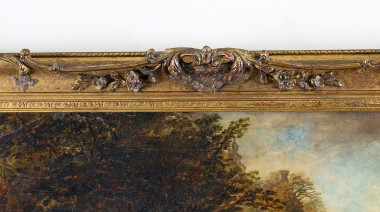 Antique Oil on Canvas Painting by Daniel Pasmore 1873 19thC For Sale 2