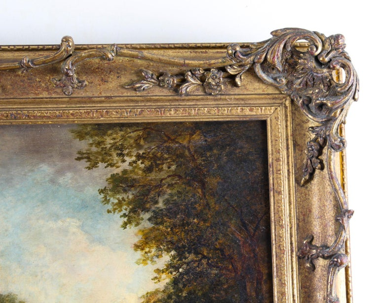 Antique Oil on Canvas Painting by Daniel Pasmore 1873 19thC For Sale 3