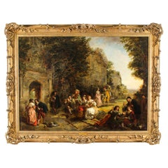 Antique Oil on Canvas Painting by Daniel Pasmore 1873 19thC