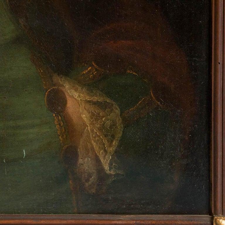 Antique Oil on Canvas Portrait of a 19th Century Nobleman For Sale 1