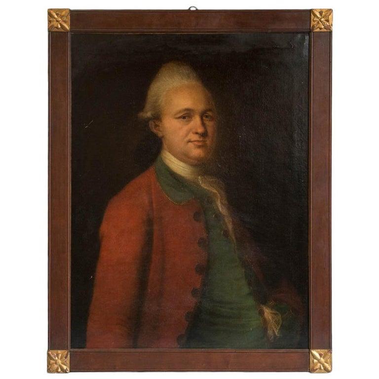 Antique Oil on Canvas Portrait of a 19th Century Nobleman For Sale