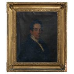 Antique Oil on Canvas Portrait Painting of a Gentleman Barron, c 1890