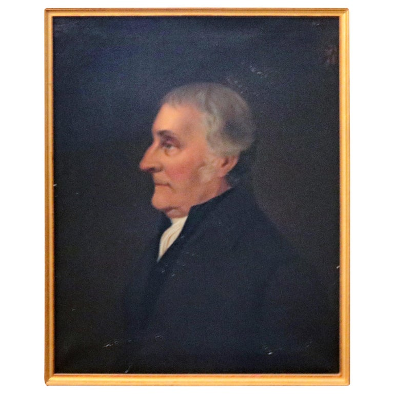 Antique Oil on Canvas Portrait Painting of Baron Signed Walz and Dated 1898 For Sale