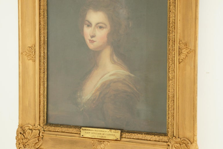 Antique Oil Painting, Diana McDonald, after Cosway, English School, 1880 For Sale 6