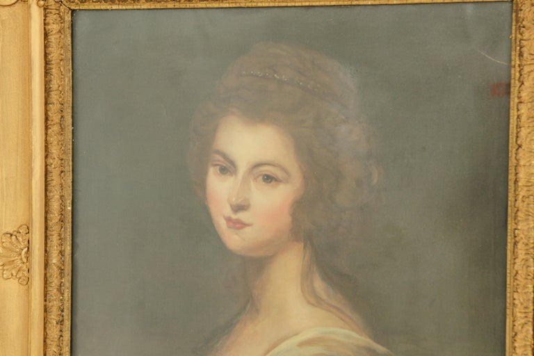 Late 19th Century Antique Oil Painting, Diana McDonald, after Cosway, English School, 1880 For Sale
