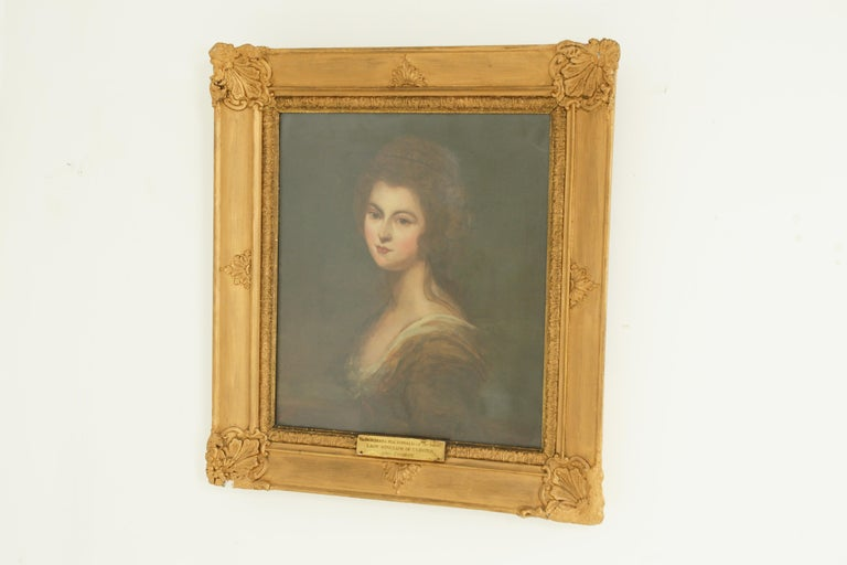 Antique Oil Painting, Diana McDonald, after Cosway, English School, 1880 For Sale 1