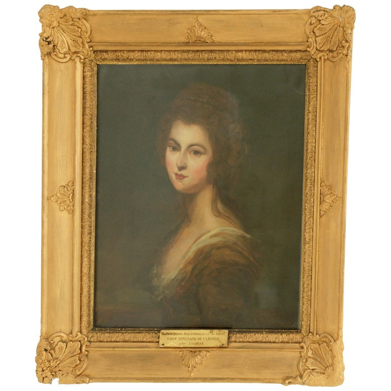 Antique Oil Painting, Diana McDonald, after Cosway, English School, 1880 For Sale