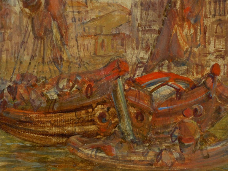 """Antique Oil Painting """"Grand Canal, Venice"""" 1889 by Alfred Pollentine For Sale 2"""