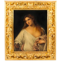 Oil Painting of Flora after Titian in Florentine Giltwood Frame, 19th Century