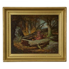 Antique Oil Painting of Squirrel by Frederick Batcheller