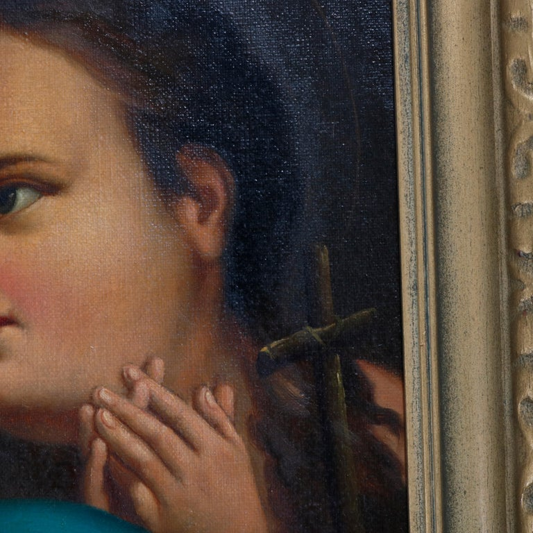 Canvas Oil Painting Old Master Copy after Raphael's Madonna Della Sedia, 19th Century For Sale