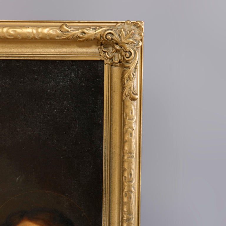 Oil Painting Old Master Copy after Raphael's Madonna Della Sedia, 19th Century For Sale 2
