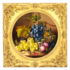 Antique Oil Painting Still Life of Fruit Attributed to Maria Margitson