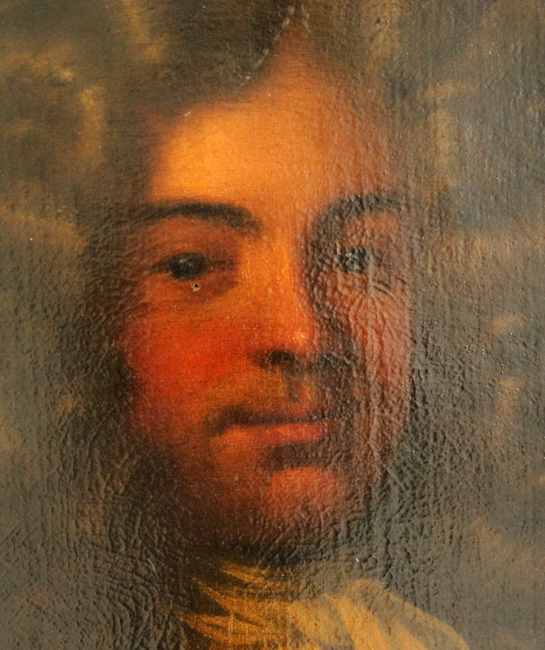 Hand-Painted Antique Oil Painting, Young Gentleman, English School, Ornate Gilt Frame, B641A