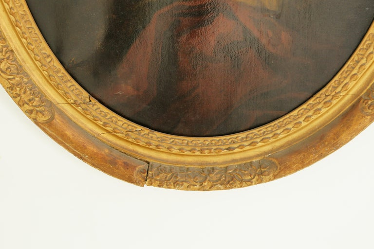 Late 19th Century Antique Oil Painting, Young Gentleman, English School, Ornate Gilt Frame, B641A