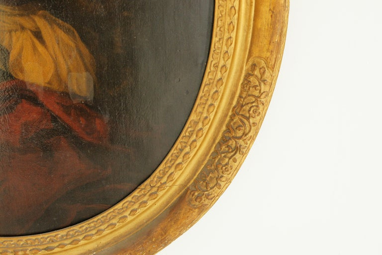 Antique Oil Painting, Young Gentleman, English School, Ornate Gilt Frame, B641A 1