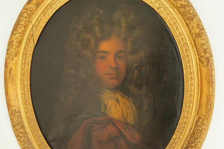 Antique Oil Painting, Young Gentleman, English School, Ornate Gilt Frame, B641A 2