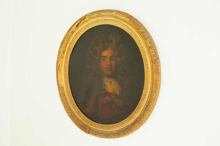 Antique Oil Painting, Young Gentleman, English School, Ornate Gilt Frame, B641A 3