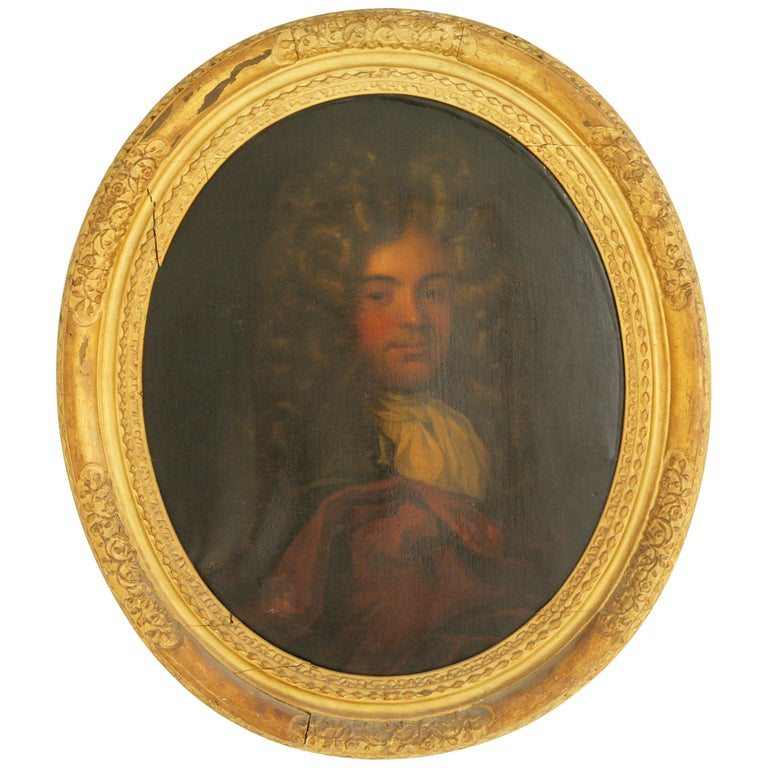 Antique Oil Painting, Young Gentleman, English School, Ornate Gilt Frame, B641A