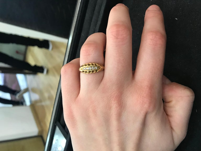Antique Old Cut Diamond Five-Stone Ring, circa 1900s In Good Condition For Sale In London, GB
